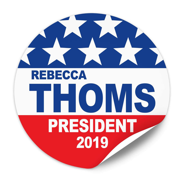 Political Campaign Sticker Template - PCS-101 - Buttonsonline