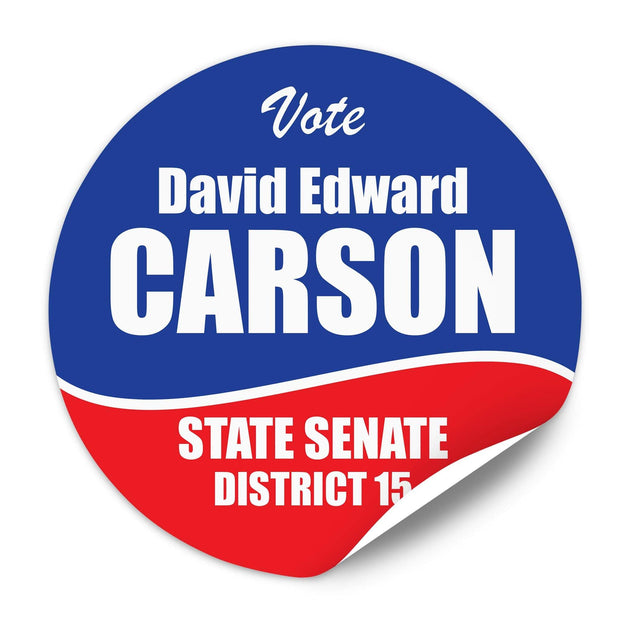 Political Campaign Sticker Template - PCS-107 - Buttonsonline