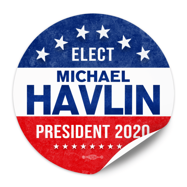 Political Campaign Sticker Template - PCS-113