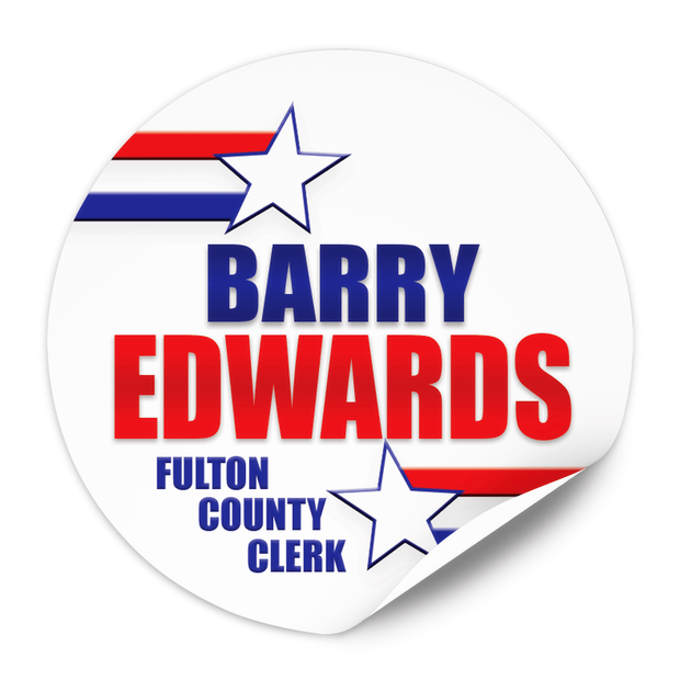 Political Campaign Sticker Template - PCS-117