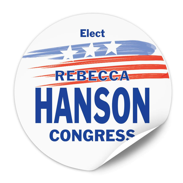 Political Campaign Sticker Template - PCS-120 - Buttonsonline