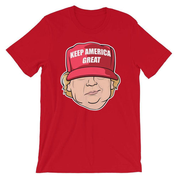 Donald Trump Keep America Great Character Short-Sleeve Unisex T-Shirt - Buttonsonline