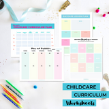 Childcare Curriculum Worksheet Pack {INSTANT PRINTABLE DOWNLOAD}