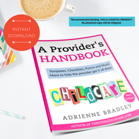 Provider Handbook 2019 {INSTANT PRINTABLE/DOWNLOAD}