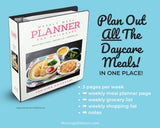 Weekly Meal Planner for Childcare - Binder Kit {INSTANT PRINTABLE/DOWNLOAD}