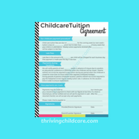Childcare Daycare Tuition Agreement Contract