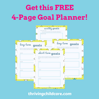 Childcare Goal Planner {INSTANT PRINTABLE/DOWNLOAD}