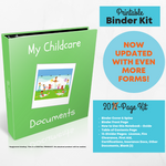 My Childcare Documents - Binder Kit {INSTANT PRINTABLE/DOWNLOAD}