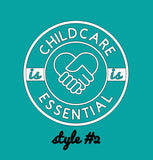 FREE + Shipping: Childcare is Essential Wall Decal Sticker