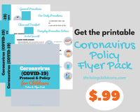 COVID-19 PROTOCOL & POLICY FORMS PACK - For Childcare Providers and Parents {INSTANT PRINTABLE DOWNLOAD}