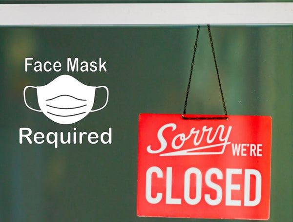 Face Mask Required Wall Decal Sticker
