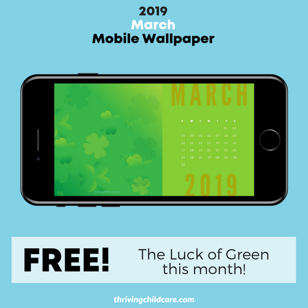 March Calendar Mobile Wallpaper Pack {INSTANT DOWNLOAD}