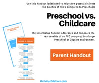 BROCHURE:  Preschool vs. Childcare