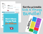 SICK & ILLNESS BUNDLE - Illness Exclusion Forms & Doctor's Note for Childcare PLUS Sick & Illness Policy Flyer {INSTANT PRINTABLE DOWNLOAD}
