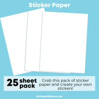 Sticker Paper Pack (25 Sheets)