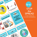 STOP THE SPREAD - COVID-19 30 FLYERS & SIGN PACK - For Childcare Providers {INSTANT PRINTABLE DOWNLOAD}
