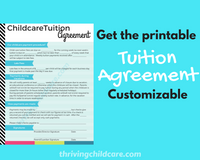 CHILDCARE TUITION AGREEMENT - Tuition Agreement for Childcare Providers and Parents {INSTANT PRINTABLE DOWNLOAD}