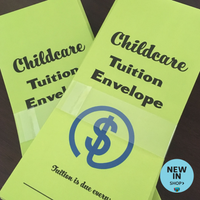 Childcare Tuition Payment Envelopes