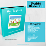 My Childcare Tuition & Finances - Binder Kit {INSTANT PRINTABLE/DOWNLOAD}