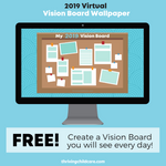 2019 Vision Board Desktop Wallpaper Pack {INSTANT DOWNLOAD}
