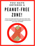 POSTER:  Peanut-Free Zone!