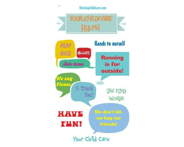 BANNER:  Child Care Rules
