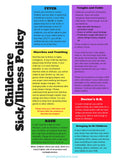 25 FLYERS:  Childcare Sick & Illness Policy Flyer