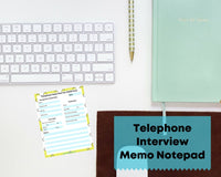 Telephone Interview Memo Notepad