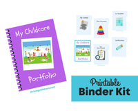 My Childcare Portfolio - Binder Kit {INSTANT PRINTABLE/DOWNLOAD}