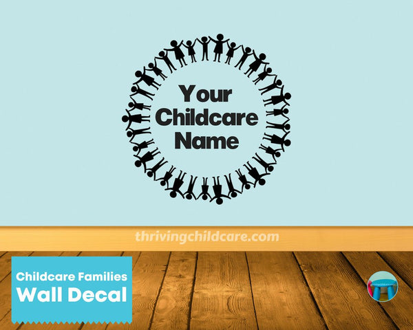 Childcare Families Wall Decal Sticker