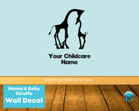 Mama & Baby Giraffe Wall Decal Sticker