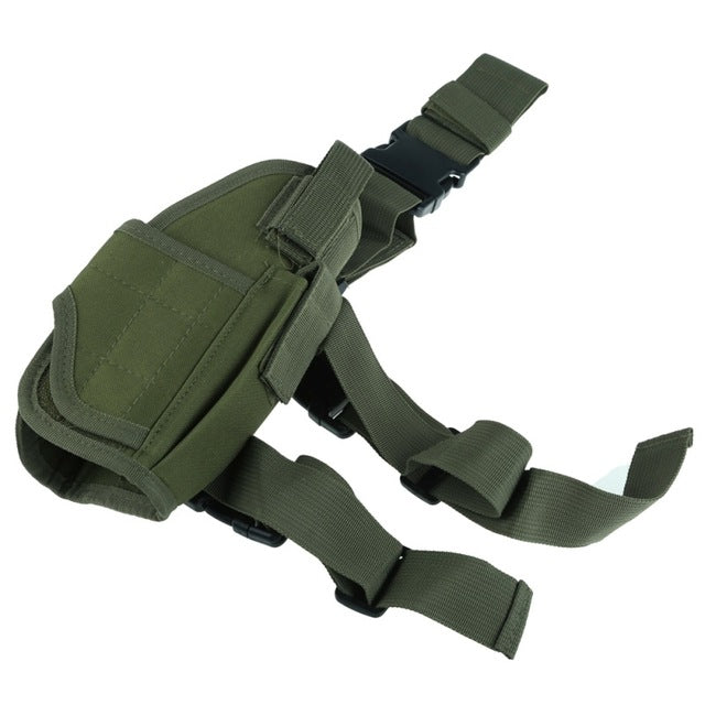 Adjustable Tactical Pistol Holster w/ Mag Pouch