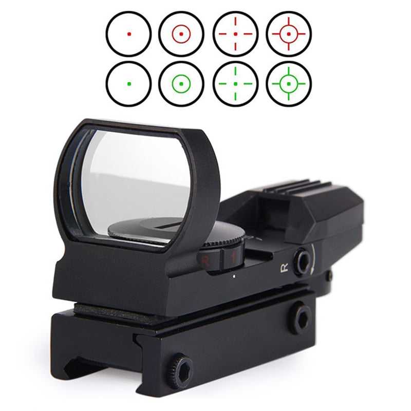 New Rail Riflescope Hunting Airsoft Optics Scope Holographic Red Dot Sight Reflex 4 Reticle Tactical Gun Accessories - AirsoftGrid