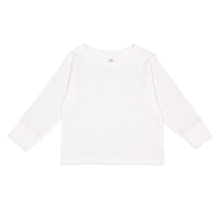 Toddler Long Sleeve Tee In White