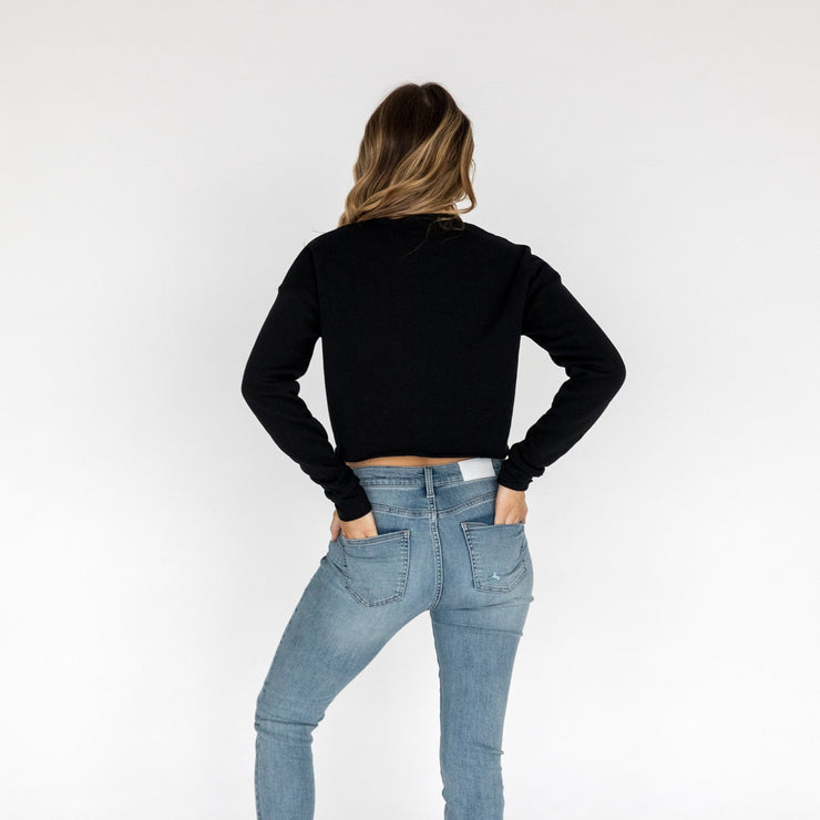 Crop Sweatshirt in Black