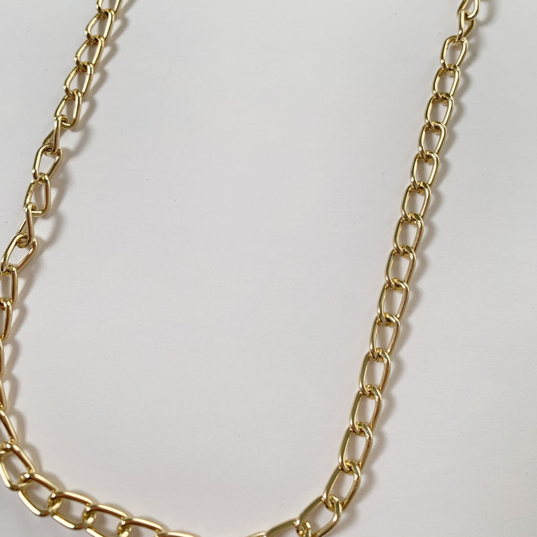 Gold Link Mask Chain