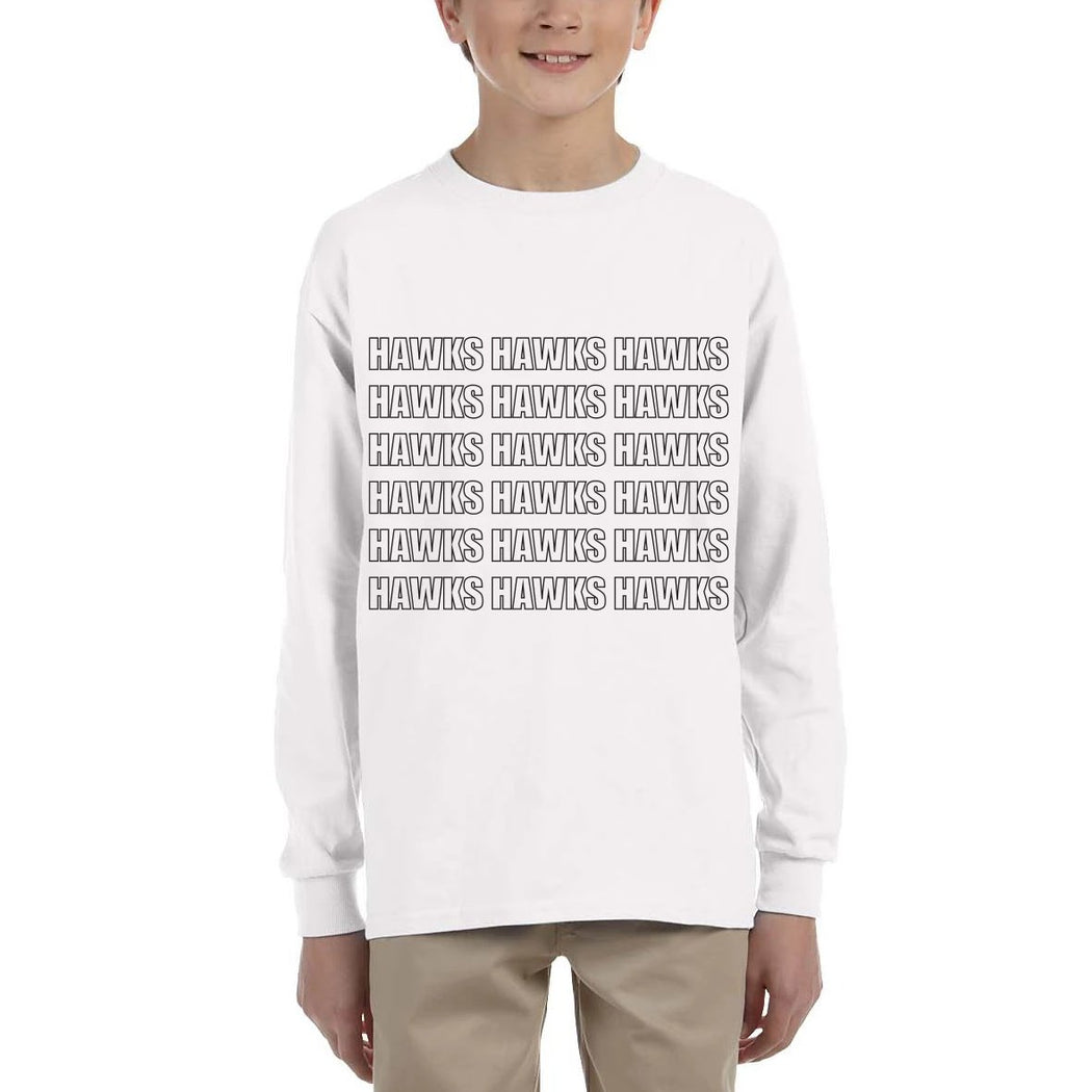 Youth Repeat Long Sleeve Tee