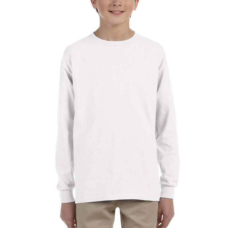 Youth Long Sleeve Tee In White