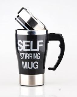 500ml Creative Coffee Mug Stainless Steel Lazy Self Stirring Mug