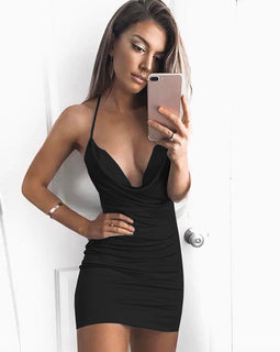 Sexy Sleeveless Sling Backless Dress