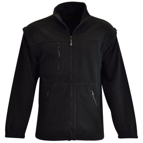 Mens Zip Off Sleeve Polar Fleece Jacket