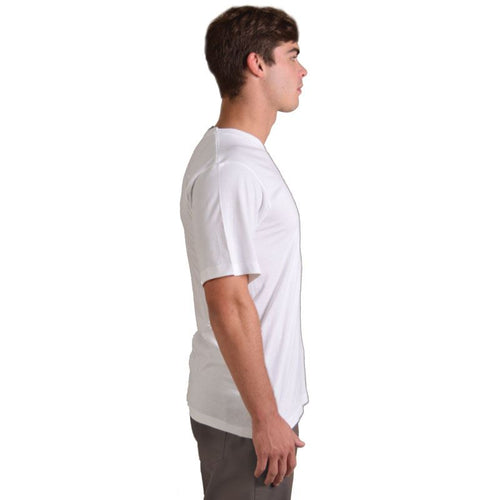 Combed Cotton V-Neck T Shirt