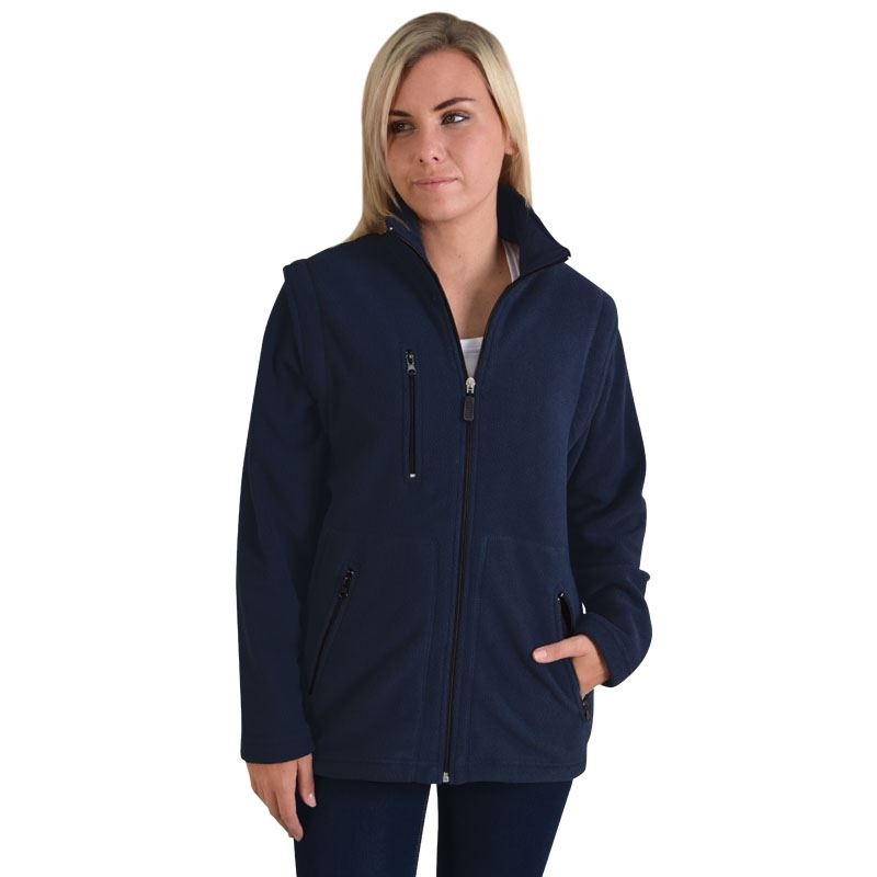 Ladies Zip Off Sleeve Polar Fleece Jacket