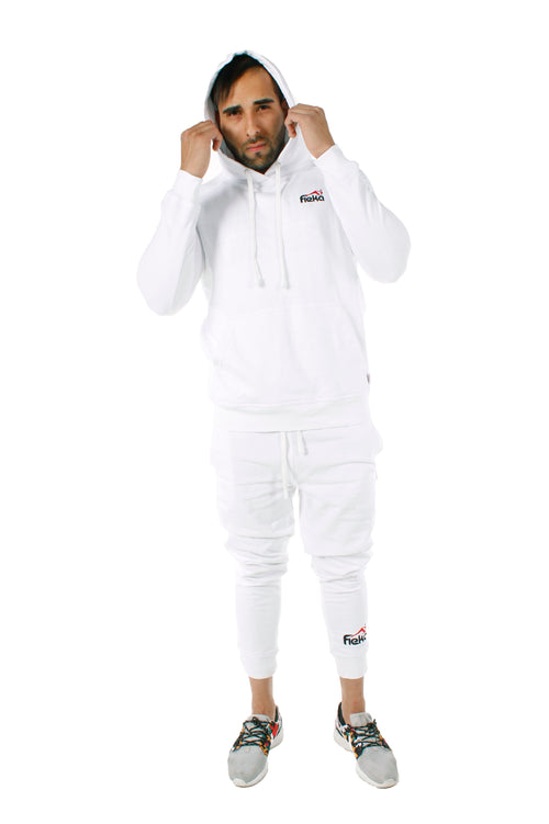 FIEKA Classic White Pullover Hoodie