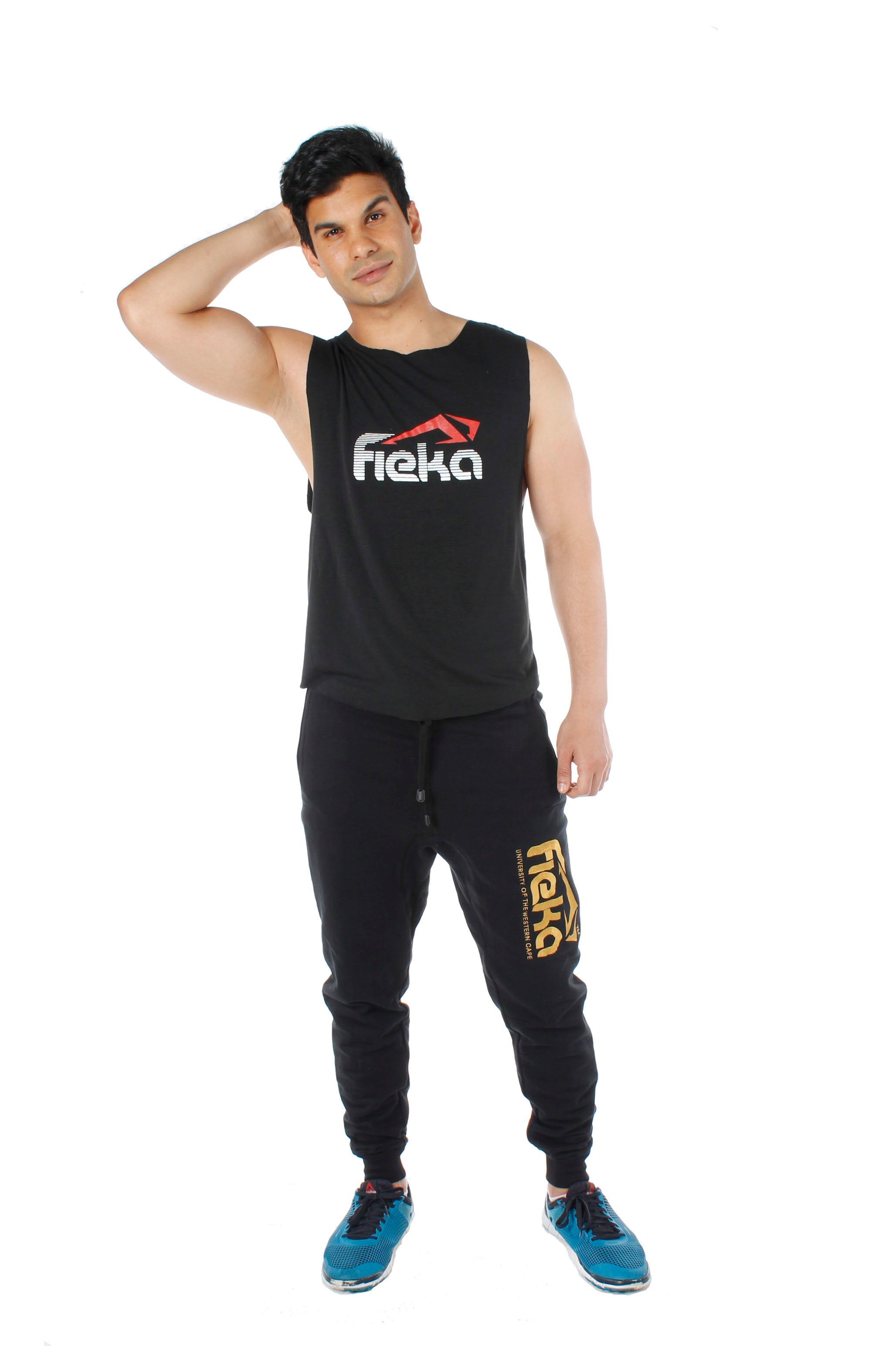 FIEKA Mens Crew Neck Training Vest
