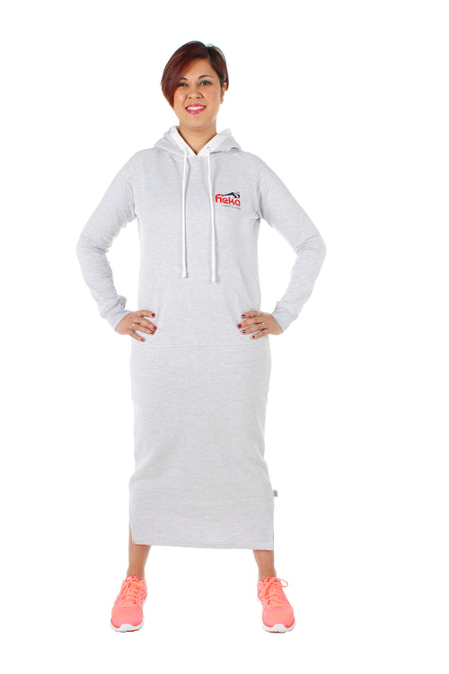 FIEKA Ladies Ultra Long Hoodie
