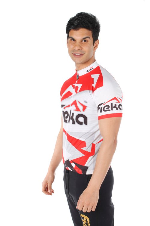 FIEKA Men's Short Sleeve Cycling Top