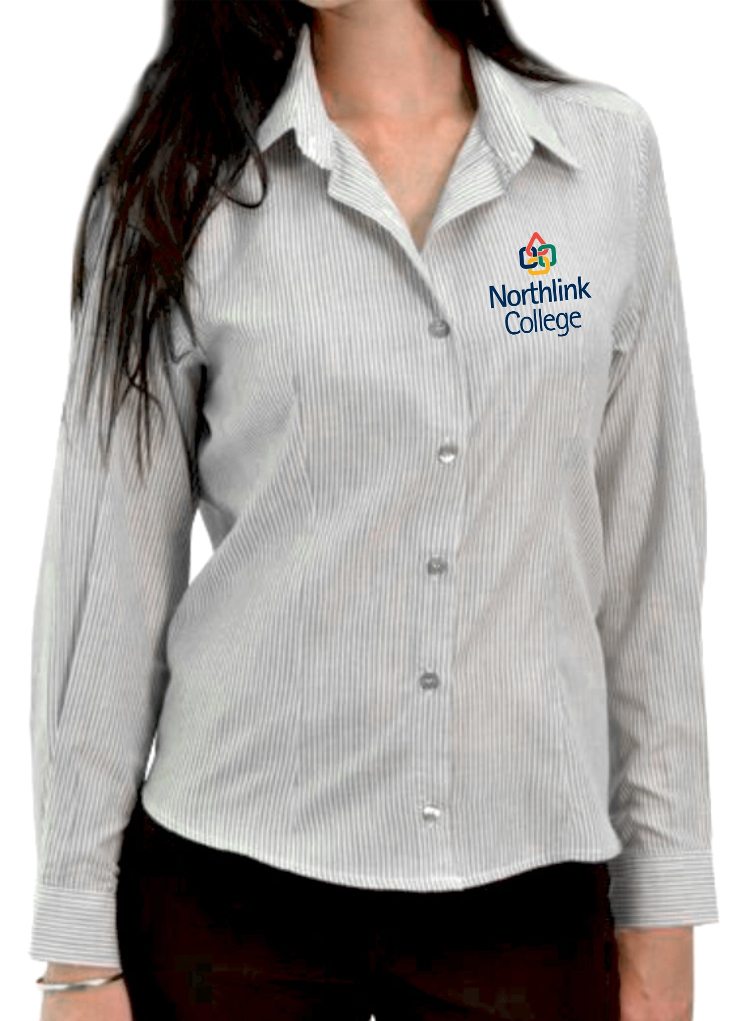 Ladies Pinstripe Shirt