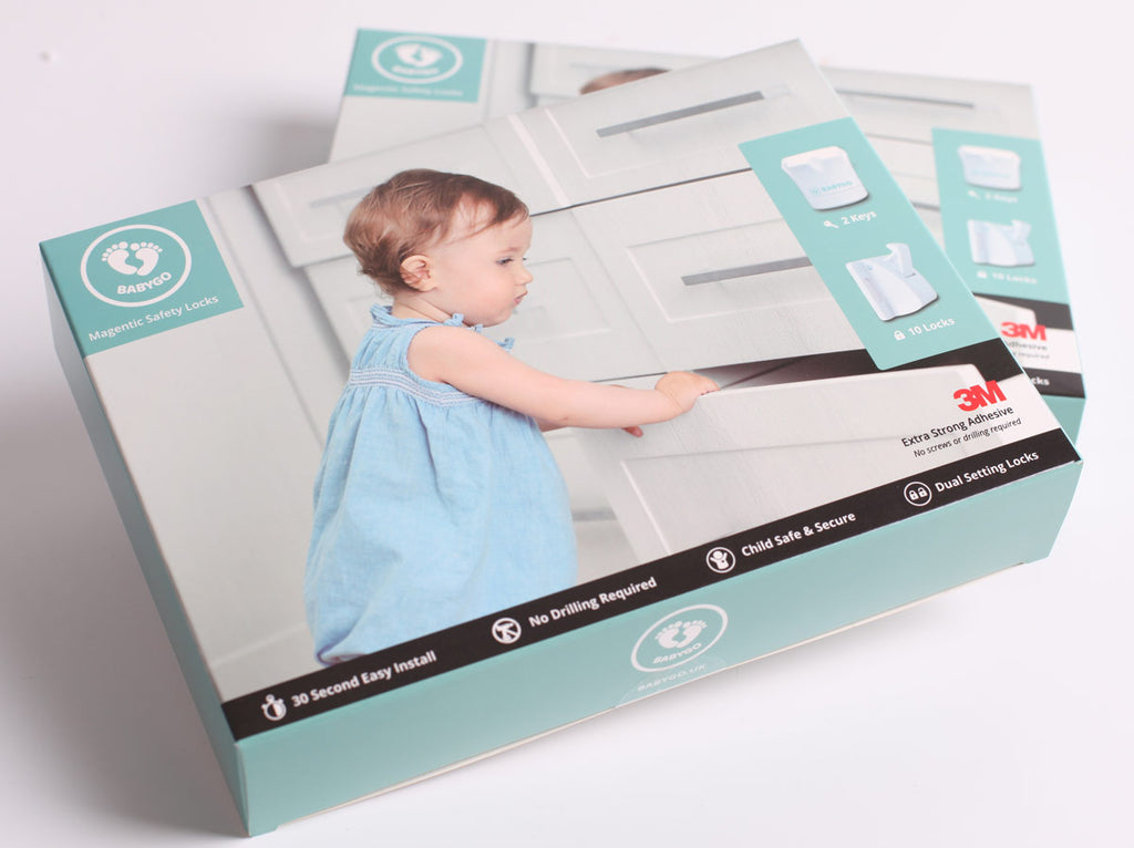 The BABYGO magnetic child safety cupboard, cabinet and drawer locks are the best