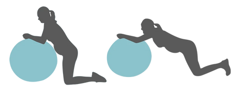 Core Ball Rollout Pregnancy Exercise